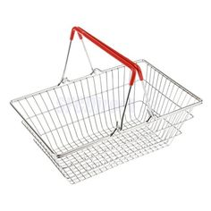 Sangdo Medium Metal Shopping Basket Role Play Pretend Toys for Kids Childrens Red *** See this great product.