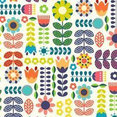 Shop the world's largest marketplace of independent surface designers - Spoonflower Folk Art Flowers, Flower Art, Tattoo Diy, Tattoo Ideas, Ui Design, Tattoo Style, Motif Vintage, Scandinavian Folk Art, Scandinavian Pattern