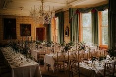 Beautiful, elegant and rustic table styling for this wedding at Cambo Country House and Estate, Scotland. Tall candlesticks looked amazing next to vases of greenery and eucalyptus.  Venue - @camboestate, Image -@simonsstudio #rusticwedding #greenerywedding #scottishwedding #scottishweddingvenue #weddingstyling Wood Wedding Decorations, Wooden Wedding Signs, Table Decorations, Rustic Wedding Stationery, Wedding Cake Rustic, Top Table Ideas, Wedding Table Layouts, Picnic Style, Farmhouse