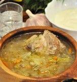 Ukrainian kapustniak (pork and pickled cabbage soup)