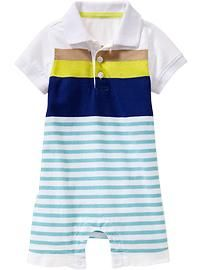 Striped Polo One-Pieces for Baby
