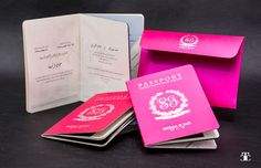 Passport wedding invitation is the perfect solution for destination wedding as you can add up to 18 pages full of activities... each passport have a story.. this was our favourite .. The PINK Passport