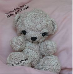 Combining two of my crafts in this OOAK Freeform Crochet Bear