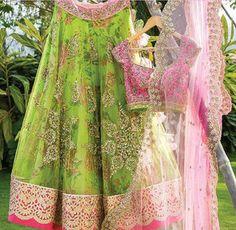 Anushree Reddy green floral lehenga choli