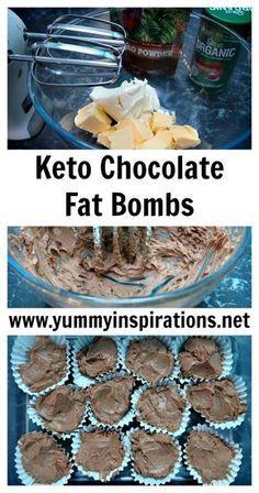 Chocolate Fat Bombs Recipe - Low Carb Keto Diet Fat Bomb Recipe