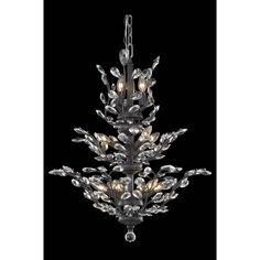 Elegant Lighting Orchid Dark Bronze 13 Light Chandelier With Royal Cut Crystal On SALE