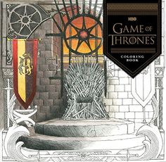 E Books, Paperback Books, Game Of Thrones Party, Game Of Thrones Fans, Adult Coloring, Coloring Books, Coloring Pages, Colouring Pencils, Game Of Thrones Accessories