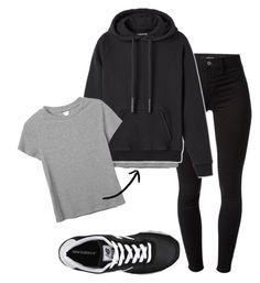 """yeezy, yeezy, yeezy just jumped over Jumpman"" by michellealysia ❤ liked on Polyvore featuring J Brand, Monki and New Balance"