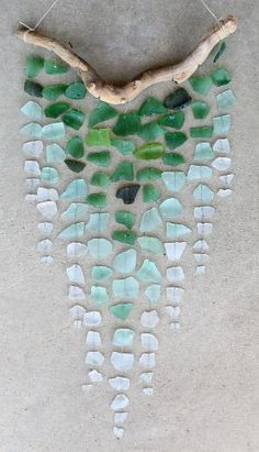 DIY Ombre Sea Glass Wind Chime by martha