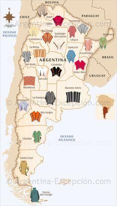 """""""Ponchos"""" de las distintas provincias argentinas. (lbk)"""