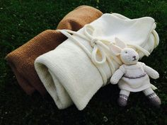 Baby Wool blanket throws Set of 2  Organic by TheMoonKidsBoutique