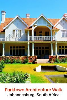 For everyone who is interested in architecture, Parktown is an exceptional area to explore. It is the oldest and most elite district of Johannesburg and you will find stately buildings that date back to the late century. Johannesburg City, World Images, Beautiful Places To Visit, Best Hotels, South Africa, 19th Century, Traveling By Yourself, The Neighbourhood, Buildings