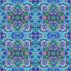 Mandala tapestry totem.... print on paper by KetubahandJudaica
