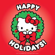 Merry Christmas and Happy Holidays from the Hello Kitty Cafe Team! Hello Kitty Vans, Hello Kitty Clothes, Hello Kitty My Melody, Hello Kitty Birthday, Sanrio Hello Kitty, Hello Kitty Clipart, Hello Kitty Themes, Hello Kitty Backgrounds, Hello Kitty Wallpaper