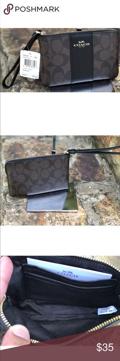 Brown coach wristlet Brown coach wristlet. Brand new with tags Coach Bags Clutches & Wristlets