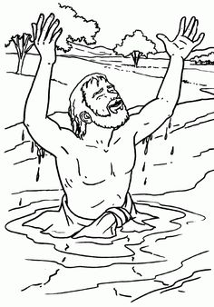 naaman coloring page - Bible Story Coloring Pages Naaman