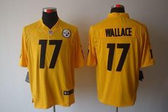 Nike Steelers #17 Mike Wallace Gold Men's Embroidered NFL Game Jersey!$24.00USD Mike Wallace, Jersey Nike, Cheap Nike, Nfl, Game, Sports, Hs Sports, Gaming, Toy