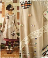 Mori Girl Fashion | i love the whole look! via http://global.rakuten.com/en/store/onepi-c/