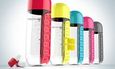 Pill Container Water Bottle