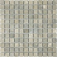 1-Inch x 1-Inch Honed Mosaic Tile in Seagrass