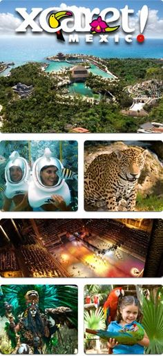 Atracciones parque Xcaret México