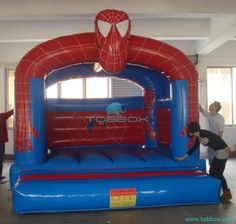 spider man inflatable bouncer for kids