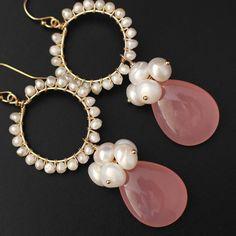 Asymmetrical Bar Earrings- minimal studs/ modern earrings/ pearl studs/ silver studs/ rose gold studs/ gifts for her/ birthday gift/ minimal - Fine Jewelry Ideas Real Pearl Earrings, Tahitian Pearl Earrings, Wire Jewelry Earrings, Pink Earrings, Gemstone Earrings, Pearl Jewelry, Beaded Earrings, Beaded Jewelry, Handmade Jewelry