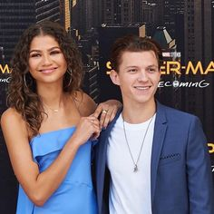 Tom holland and zendaya attend the 'spiderman homecoming' movie photocall at villamagna hotel in Spiderman Homecoming Movie, Spiderman Movie, Tom Holland Zendaya, Bae, Tom Holland Peter Parker, Tommy Boy, Zendaya Coleman, Men's Toms, Romance