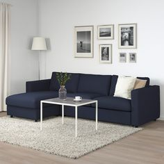 VIMLE with chaise longue/Farsta black, sofa-bed. The VIMLE sofa series has sections that can be combined as you like into a customised solution for you and your home. This one has a sofa-bed which is super easy to convert with a thick, cosy mattress. 3 Seat Sofa Bed, Sofa Bed Frame, Sofa Bed With Chaise, Sofa Beds, Mattress Covers, Bed Mattress, Ikea Vimle, Bed Ikea, Sofa Back Cushions