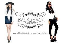 Back2Back giveaway is here! Join us and Celebrate! More here: www.tauyanm.com