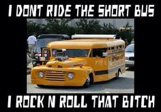 School Bus Hot Rod-Gigantic Engine, Spoiler, Chopped, and Slammed . Rat Rods, Cool Trucks, Big Trucks, Cool Cars, Pickup Trucks, Custom Trucks, Custom Cars, Short Bus, Weird Cars