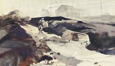 Andrew Wyeth -Fog and the White Dory /1941