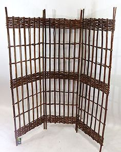 Master Garden Products Three Panel Round Top Willow Screen Sets, 16 Inch