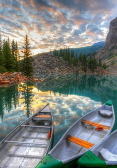Reflections - Moraine Lake,National Park, Alberta, Canada:
