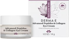 Advanced Peptides and Collagen Eye Cream by DERMA E - not good, irritated my eyes, made them sore and painful, not moisturizing enough