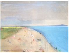 Sally Benedict low c beach  - $5,400 36 x 48 inches mixed media on linen
