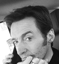 You really put me on hold. Dont make me go all wolverine on yo ass. Hugh Michael Jackman, Hugh Jackman, Hottest Male Celebrities, Celebs, Laura Movie, Hugh Wolverine, Australian Actors, Celebrity Crush, Actors & Actresses