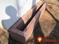 How To Make A Paving Stone Planter Box ! how to make a paving stone planter box, concrete masonry, c Brick Planter, Diy Planter Box, Stone Planters, Window Planter Boxes, Diy Planters, Garden Planters, Planter Beds, Cheap Paving Stones, Permaculture