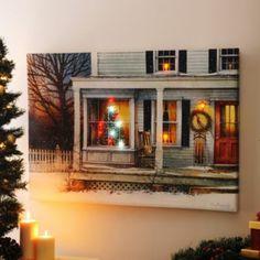 Home for the Holidays LED Canvas Art Print   Kirkland's