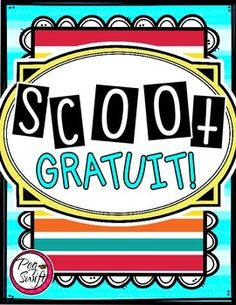 French Vocabulary Game - SCOOT FREEBIE!