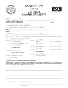 district award of merit certificate template - boy scout duty roster template boy scout calendar
