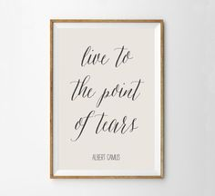 Albert Camus Quote Art Print - Literary Art Print - Classic Literature Wall Art Poster - Inspirational Motivational Print - Gift for student...