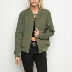 OFFERS Rare kasey bomber jacket I've never seen this color on posh. It's the darker green color, not the light green. Brandy Melville Jackets & Coats