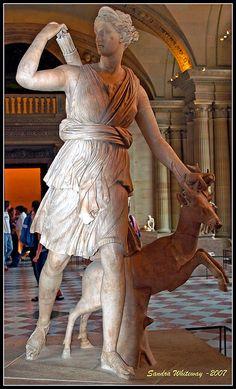 Artemis, the Diana of Versailles, 1st-2nd C. AD, Saint-Germain-L'auxerrois, Paris, France.