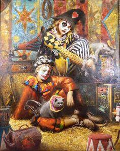 Clowns by Vladimir Muhin