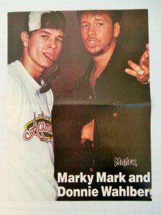 Marky Mark Donnie Wahlberg 90210 Double Side Poster 1980's Greek Magazine | eBay
