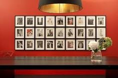 Image result for office wall of frames