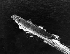 USS Wasp underway off Trinidad, 22 Feb 1944, photo 1 of 2