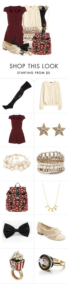 """""""The Final Scene [Back to School Look]"""" by detectiveworkisalwaysinstyle ❤ liked on Polyvore featuring Dorothy Perkins, H&M, River Island, Social Anarchy, Kate Spade, MNG by Mango, ASOS, Anne Klein, Betsey Johnson and Monsoon"""