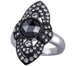 Sethi Couture black diamond rose-cut cocktail ring